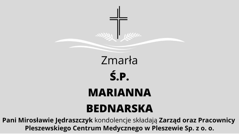 Zmarła Ś.P. Marianna Bednarska - Zdjęcie główne