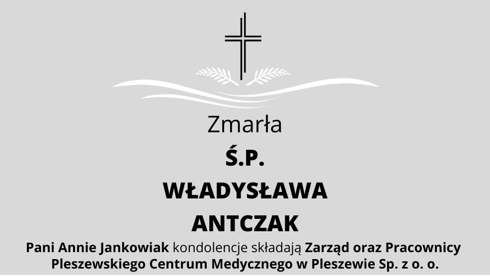 Zmarła Ś.P. Władysława Antczak - Zdjęcie główne