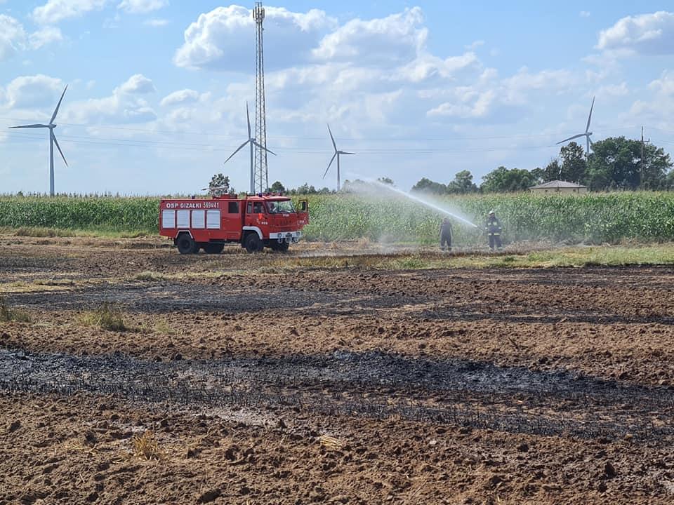 Pożar w gminie Gizałki. W akcji trzy jednostki - Zdjęcie główne