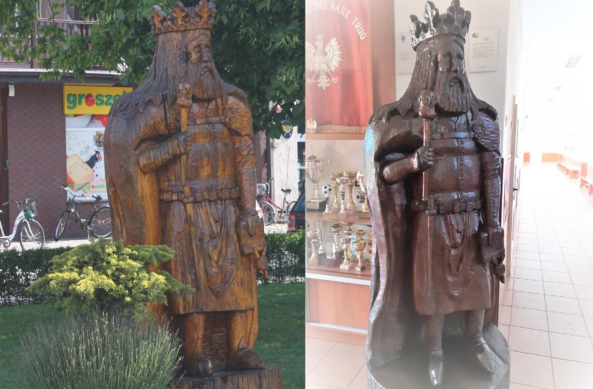 Zastał Polskę drewnianą a zostawił murowaną. Odcisnął też swój murowany ślad w Choczu. Gdzie się podziała rzeźba króla Kazimierza Wielkiego? - Zdjęcie główne