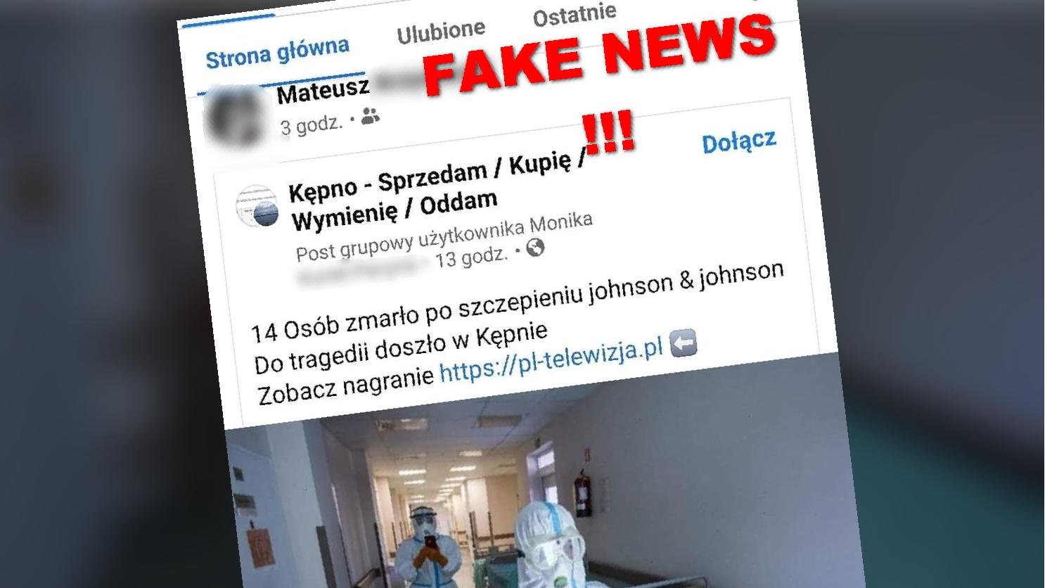 14 osób zmarło nagle po szczepieniu? Policja ostrzega: Nie klikaj w ten post! - Zdjęcie główne