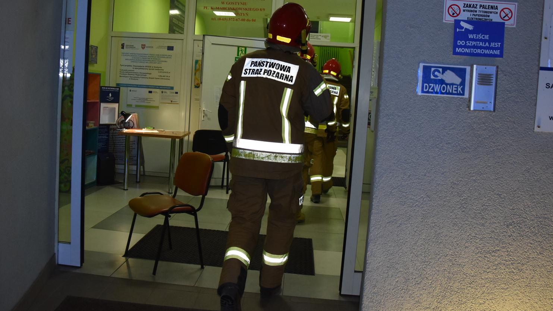 Pożar wybuchł na oddziale chorób wewnętrznych. Ewakuowano pacjentów szpitala w Gostyniu - Zdjęcie główne