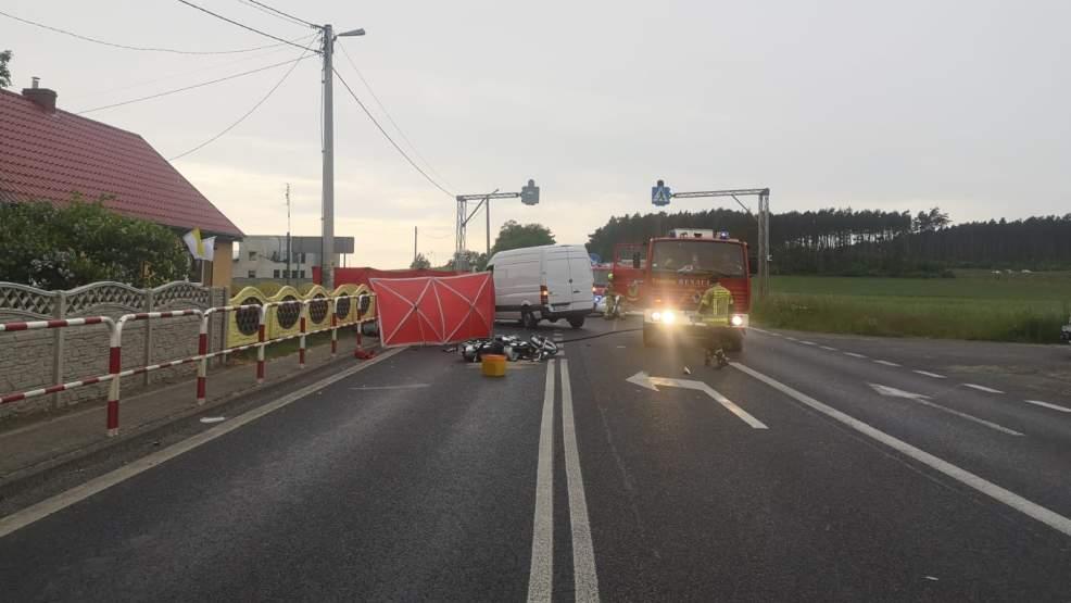 Śmiertelny wypadek z udziałem motocykla. Nie żyje 61-letni motocyklista - Zdjęcie główne