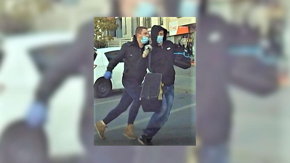 Rozbój w Kościanie. Ukradli torbę z pieniędzmi i zwiali. Policja udostępniła podobizny sprawców [FILM] - Zdjęcie główne
