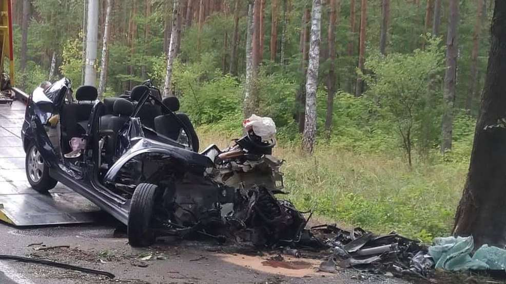 Samochód osobowy uderzył w drzewo. Nie żyje 18-latka - Zdjęcie główne