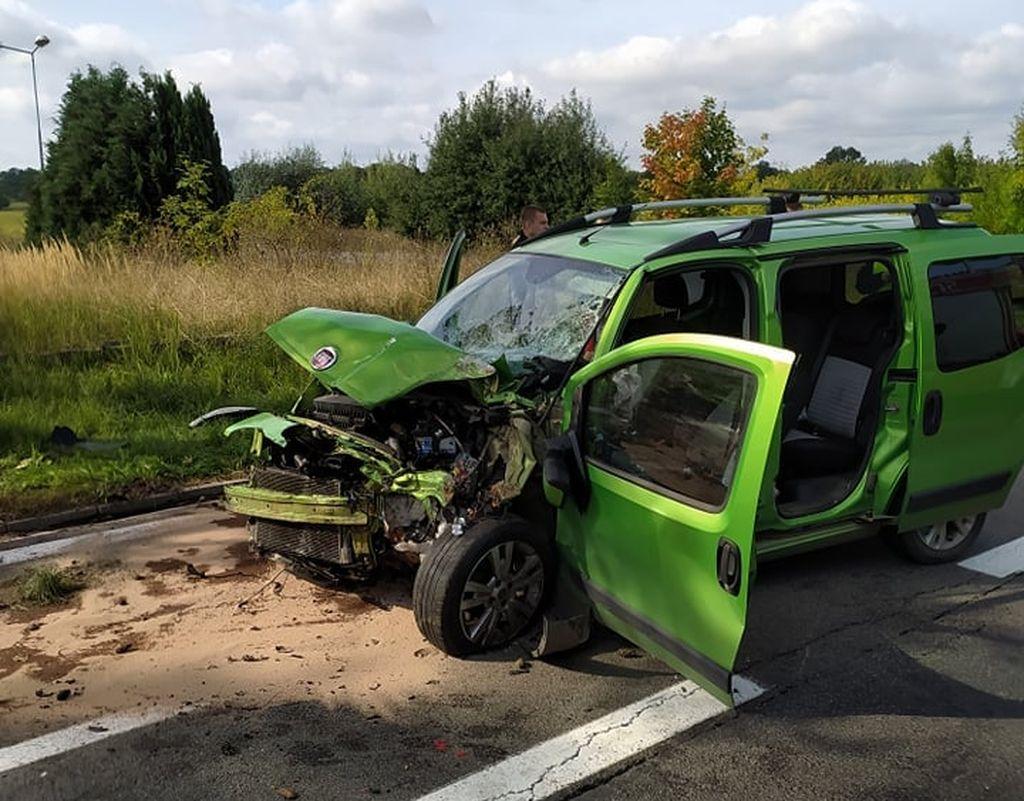 Wypadek na drodze krajowej nr 24 w Daleszynku. Nie żyje 19-latek - Zdjęcie główne