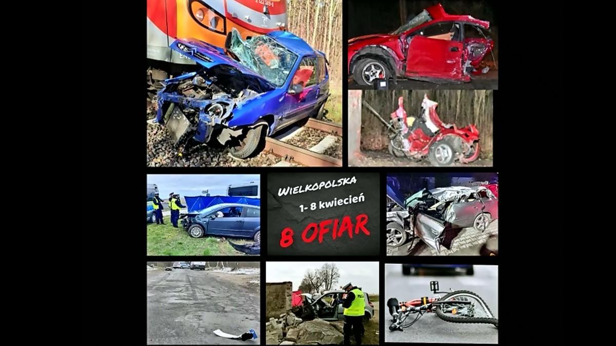 Tragiczny początek miesiąca. Na drogach Wielkopolski zginęło 8 osób - Zdjęcie główne