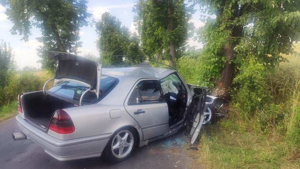 22-latek używał telefonu podczas jazdy. Uderzył w drzewo - Zdjęcie główne