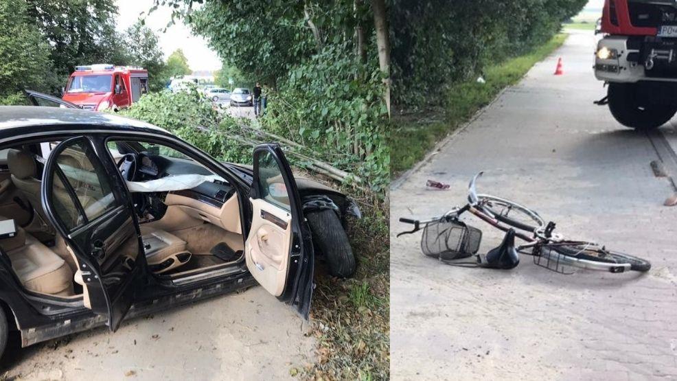Śmiertelny wypadek z udziałem rowerzystki. 19-latek najpierw uderzył w drzewo - Zdjęcie główne