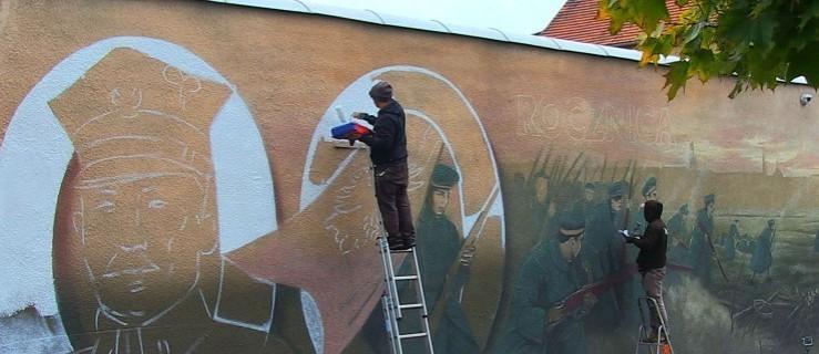 Powstańczy mural na murze jednego z Wielkopolskich więzień [WIDEO] - Zdjęcie główne